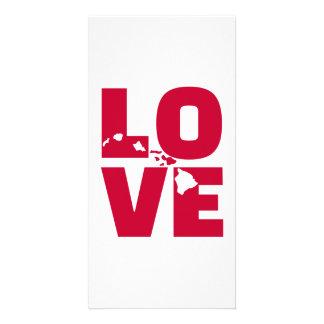 Hawaii love card