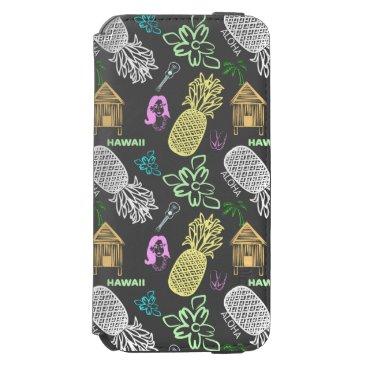 Beach Themed Hawaii Luau Pattern iPhone 6/6s Wallet Case