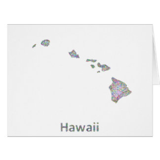Hawaii map card