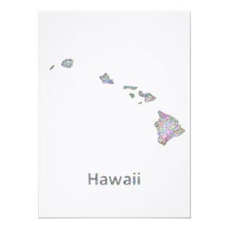 Hawaii map card