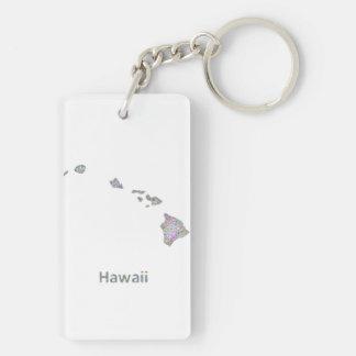 Hawaii map keychain