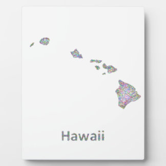 Hawaii map plaque