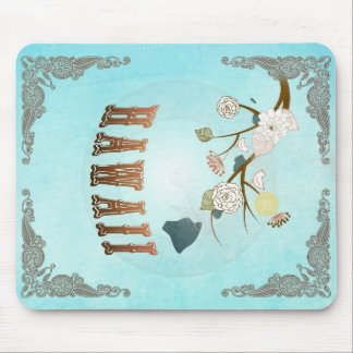 Hawaii Map With Lovely Birds Mouse Pad