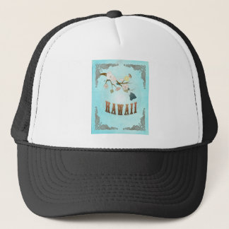 Hawaii Map With Lovely Birds Trucker Hat