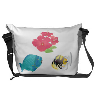 Hawaii Marine Life Messenger Bags