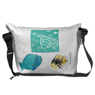 Hawaii Marine Life Courier Bags