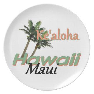 HAWAII MELAMINE PLATE