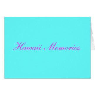 hawaii memories card