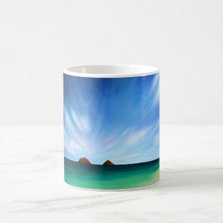 Hawaii Mokulua Islands Ocean Art Mug