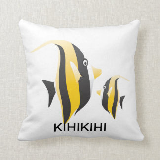 Hawaii Moorish idol Fish Pillow