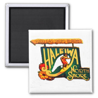Hawaii North Shore Beach Sign Magnet 2 Inch Square Magnet