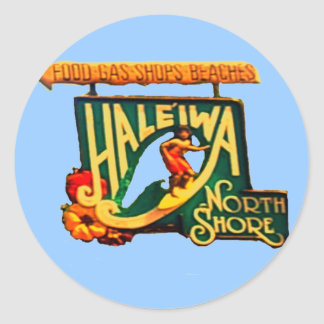 Hawaii North Shore Beach Sign sticker
