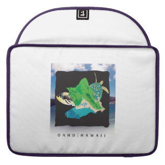 Hawaii Oahu Island Sleeve For MacBook Pro