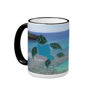 Hawaii  Oahu Island Turtle Mug