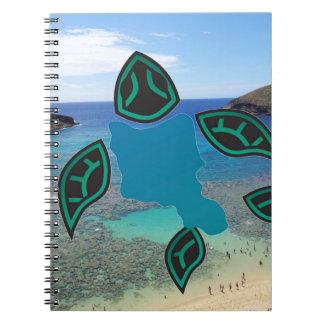 Hawaii Oahu Island Turtle Notebook