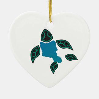 Hawaii Oahu Island Turtle Christmas Ornament