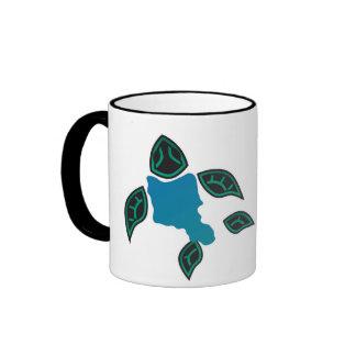Hawaii Oahu Island Turtle Ringer Mug
