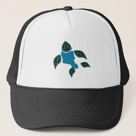 Hawaii Oahu Island Turtle Trucker Hat