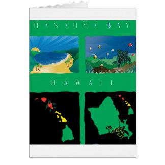 Hawaii Oahu Map Card