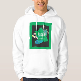 Hawaii Oahu Map - Hanauma Bay Hoodie