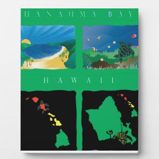 Hawaii Oahu Map Photo Plaque