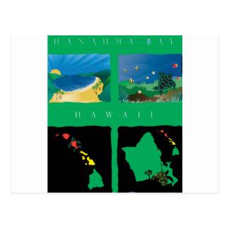 Hawaii Oahu Map Postcard