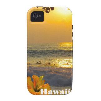 Hawaii Ocean Sunset Vibe iPhone 4 Cases