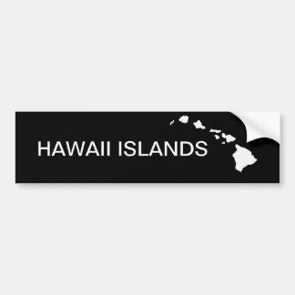 Hawaii ocho islas etiqueta de parachoque