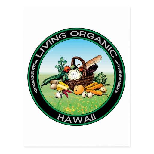 Hawaii orgánica tarjeta postal