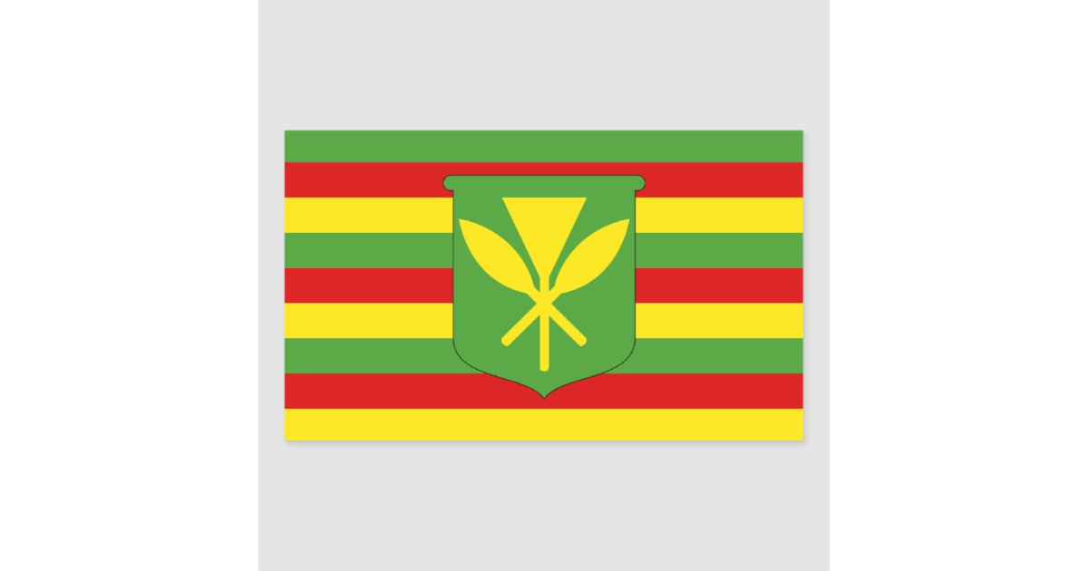 hawaii original flag kanaka maoli rectangular sticker