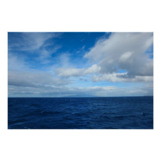 hawaii pacific ocean clouds poster