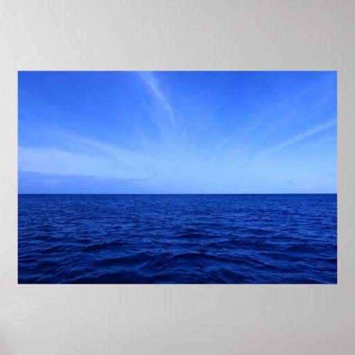 hawaii pacific ocean clouds print