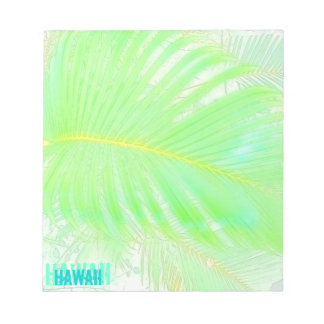 Hawaii palm frond notepad