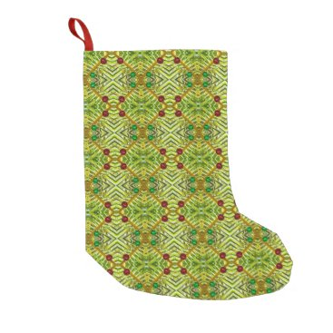 Beach Themed Hawaii Palm Leaf Abstract Christmas Stocking