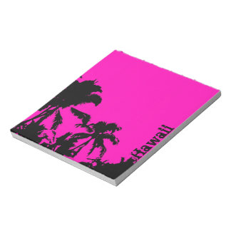 Hawaii palm outline notepad