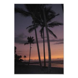 Hawaii Palm Tree Party small-size invitation