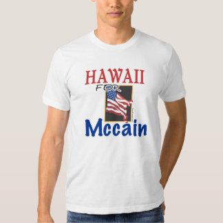 Hawaii para la camisa de Mccain
