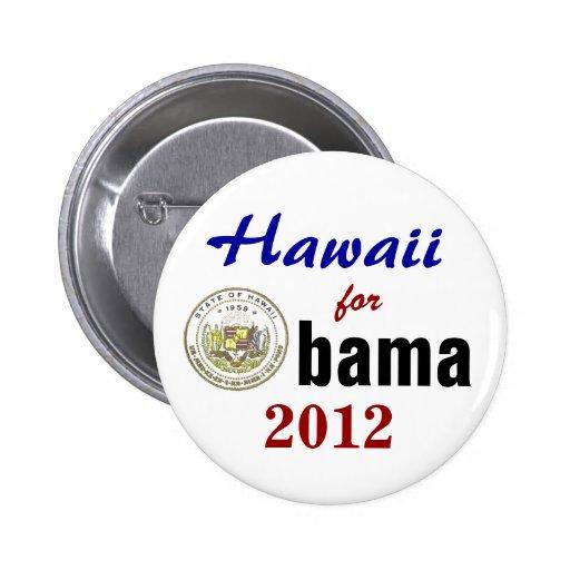 Hawaii para Obama 2012 Pin