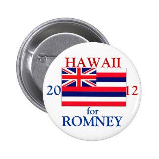 Hawaii para Romney 2012 Pin Redondo De 2 Pulgadas