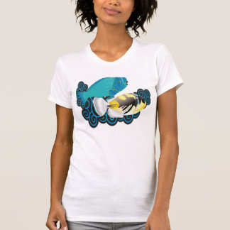 Hawaii Parrot and Trigger Fish T Shirt
