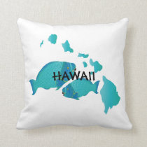 Hawaii Parrot Fish Pillow