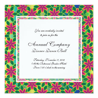 Hawaii Passion Hot Pink Tropical Flower Power Invitation