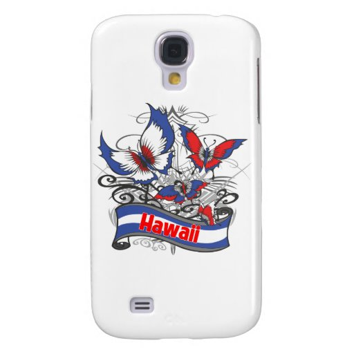 Hawaii Patriotism Butterfly Galaxy S4 Cases