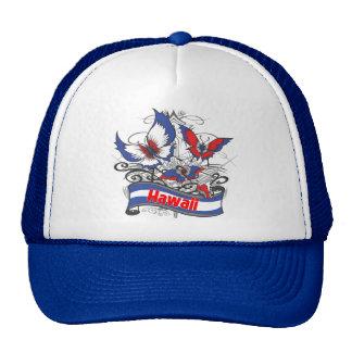 Hawaii Patriotism Butterfly Trucker Hat