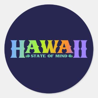 Hawaii Pegatina Redonda