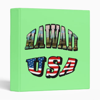 Hawaii Picture and USA Flag Text Binder
