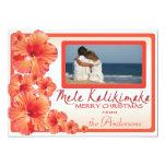 Hawaii pink hibiscus custom photo Christmas cards