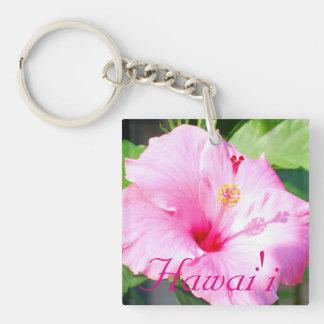 Hawaii Pink Hibiscus Acrylic Key Chains