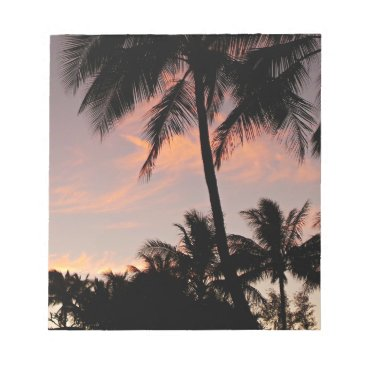 Hawaii pink sunset notepad