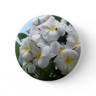 Hawaii Plumeria Flower button